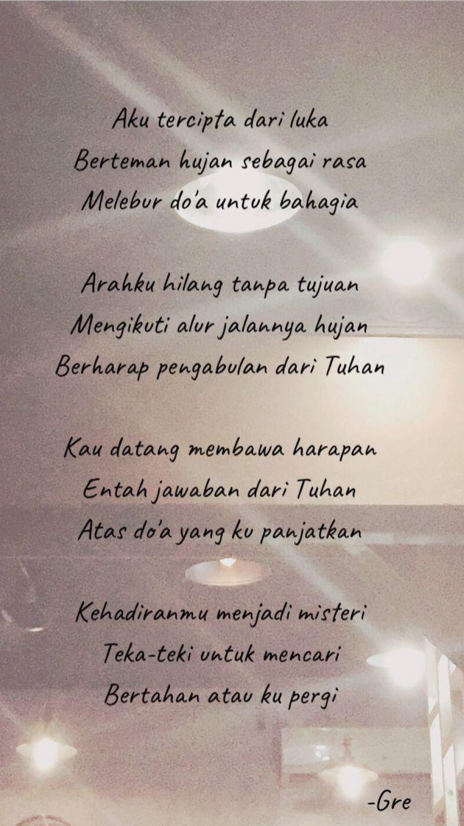 Puisi Hati Nktchi Kata Kata Tuhan Doa