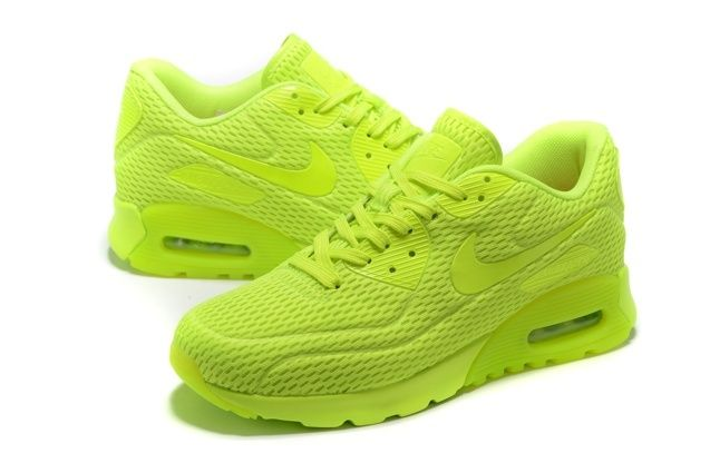 huge selection of 655ee a7675 Nike Air Max 90 Ultra BR Volt Neon Volt Lime Running ...