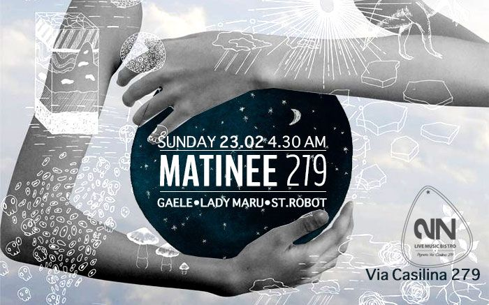 ▀▀▀▀▀▀▀▀▀▀▀▀▀▀ Matinée 279 | Perifrasi techno DOMENICA 23 FEBBRAIO 2N .via Casilina 279 start 4.30 LadyMaru \ St.Robot \ Gaele https://www.facebook.com/events/541973729233107/