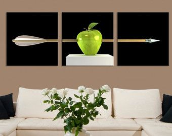 Check out Extra Large Wall Art Close-up Green Apple Photo Framed Canvas Giclee Prints Split Panels Home Decor Picture Hanging for bedroom room on largeartcanvas