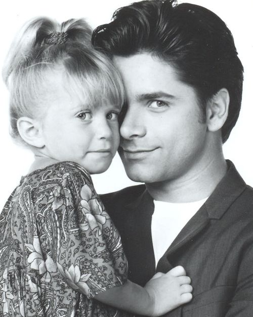 Mary-Kate Olsen & John Stamos. Full House