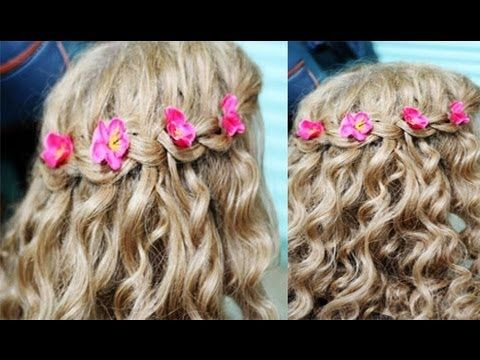 simple and easy hair styles 17 best ideas about waterfall braid with curls on 6760
