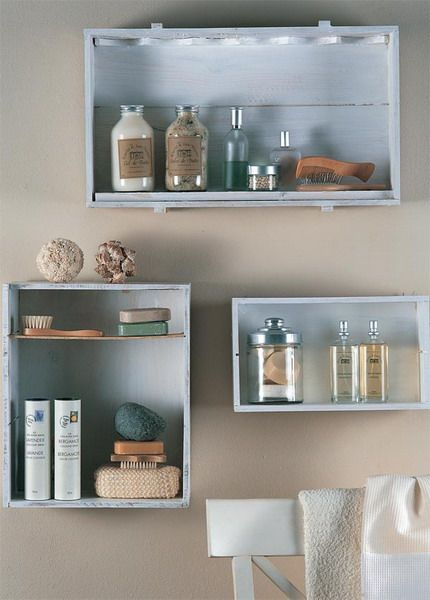 33 Cool Makeup Storage Ideas - teen or beach bathroom|