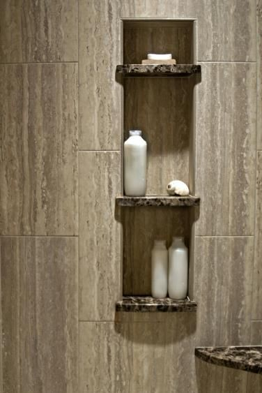 Contemporary Bathroom By Nancy Finneson Akbd Caps Demane Design Shelves In The Shower