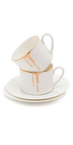 love it and it's gold, sweet | Gift Boutique Reiko Kaneko Drip Tease Mug Set