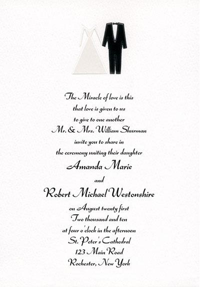 Contemporary Bride and Groom Invitation
