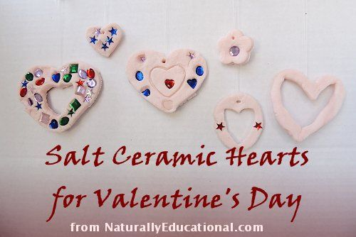 Salt Ceramic Heart Ornaments for Valentine's Day #valentinesHeart Ornament