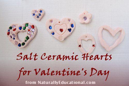 Salt Ceramic Heart Ornaments for Valentine's Day #valentines: Ceramic Hearts, Class Gifts, Ceramic Craft, Heart Ornament, Valentines Dau, Valentines Day, Valentine Day Gifts