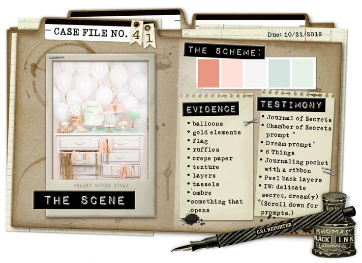 Case File No. 41 {Case closes on October 21, 2012} - CSI: Color, Stories, Inspiration
