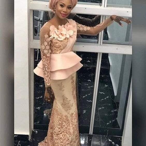 Aso ebi Lace Skirt and Blouse Style 2019