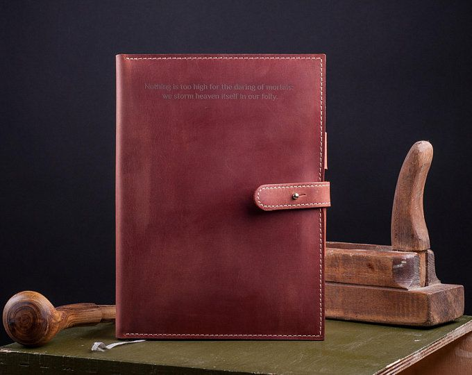 6bd053feca18 Leather journal Customize notebook cover for Moleskine Cahier ...