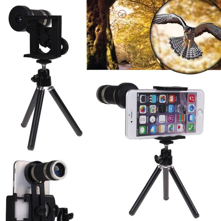 8X Zoom Camera Telephoto Telescope Lens+Mount Tripod For Cell Phone Smart Phone #UnbrandedGeneric