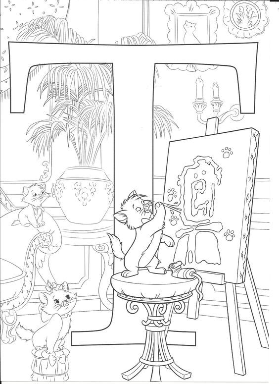 Coloring page Abc coloring pages, Disney coloring pages