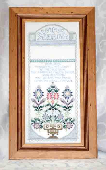 Our Wedding is an exquisite heirloom quality framed embroidery personalised with the names of the bride and groom and their wedding date. A gift to treasure in the years to come.