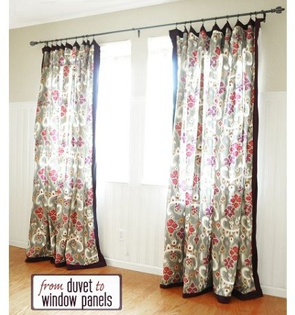 Tutorial: Make curtain panels from a duvet cover