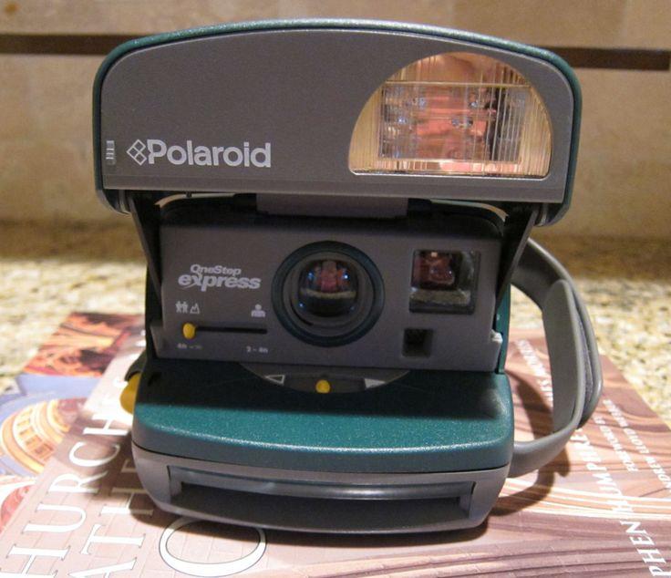Polaroid OneStep Express with Original Case Instant Camera by WholeBrainPhoto on Etsy