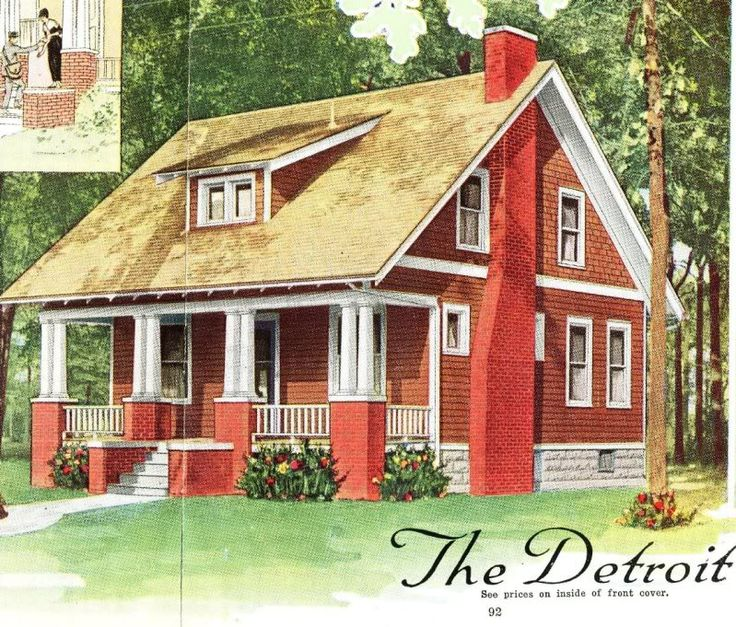 aladdin detroit as seen in the 1919 catalog - 1919 House Plans