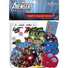 Avengers Assemble Favor Pack (includes 6 different favours with 8 pcs each, good for give away to 8 kids)