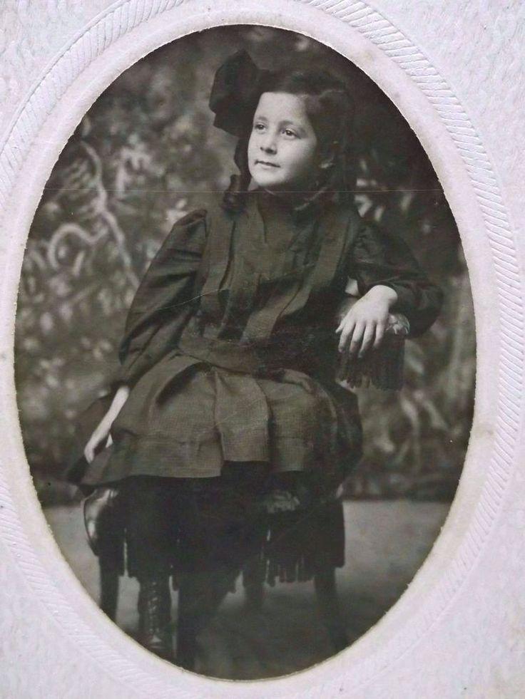 1870 Cabinet Photo of Girl in Black Dress, Ringlet Curls -ID'd Janet Burton http://i.ebayimg.com/images/g/iFIAAOSwXGtZnQaC/s-l1600.jpg