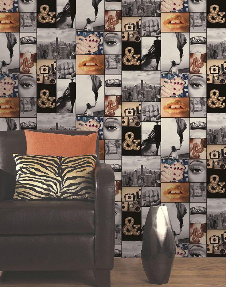 Die besten 25+ Funky wallpaper Ideen auf Pinterest Flamingo - esszimmer 70er