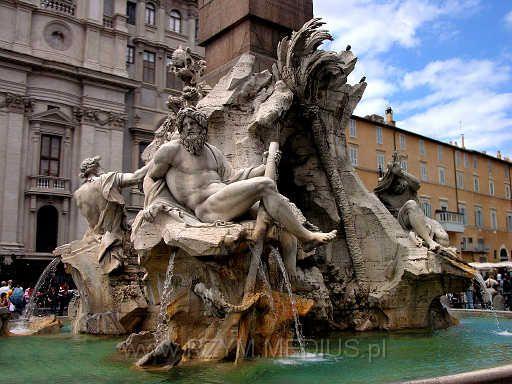 Bernini, Rzym-Fontanna-Czterech-Rzek
