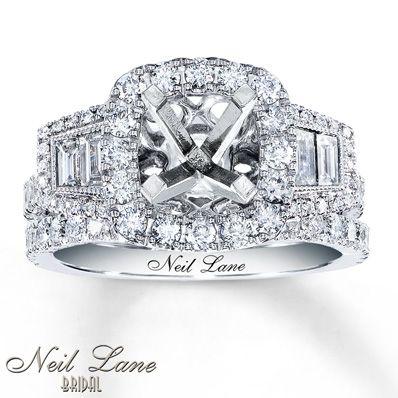 Neil Lane Bridal 1 1/3 ct tw Diamonds 14K Gold Bridal Setting