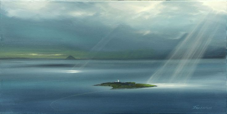 Pladda  by Scottish contemporary landscape painter J Mackintosh