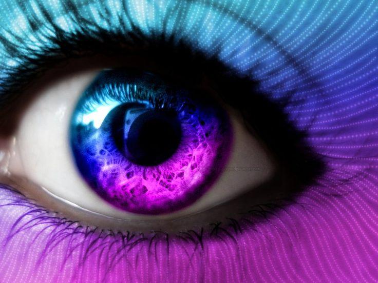 картинки фиолетовые глаза у человека взялся перо