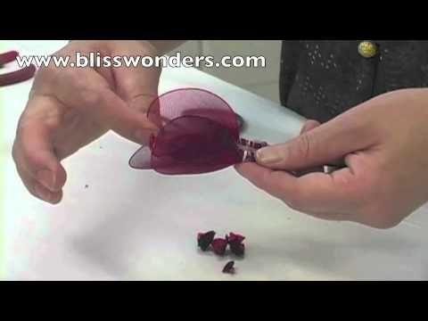 FREE VIDEO TUTORIAL ~ How To Make Nylon Flowers 03 (Medium Rose) blisswonders.com (+playlist)