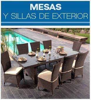 muebles para jardn y terraza sillas y mesas de exterior parasoles y ms
