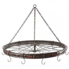Hanging Bicycle Wheel    $82.00 @ http://www.antiquefarmhouse.com/current-sale-events/farmhouse-kitchen.html
