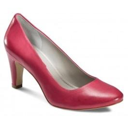 Pantofi confecţionaţi din piele cu finisaje deosebite. Căptuşeala din piele ajuta picioarele să respire. Confortul este îmbunătăţit datorită branţului din spumă acoperit cu piele. Talpa este rezistentă datorită tunitului durabil şi al inserţiilor din termopoliuretan.  Tocul elegant are o înălţime de 70mm.