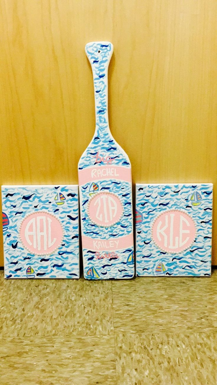 Making decor that matches your big's paddle. TSM.