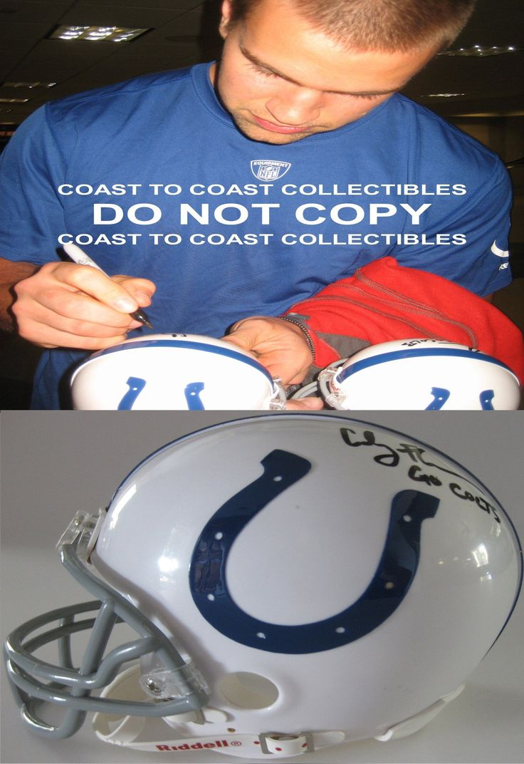 limited jersey 78 nfl nike indianapolis colts royal blue rush coby fleener indianapolis colts signed autographed mini helmet a coa with