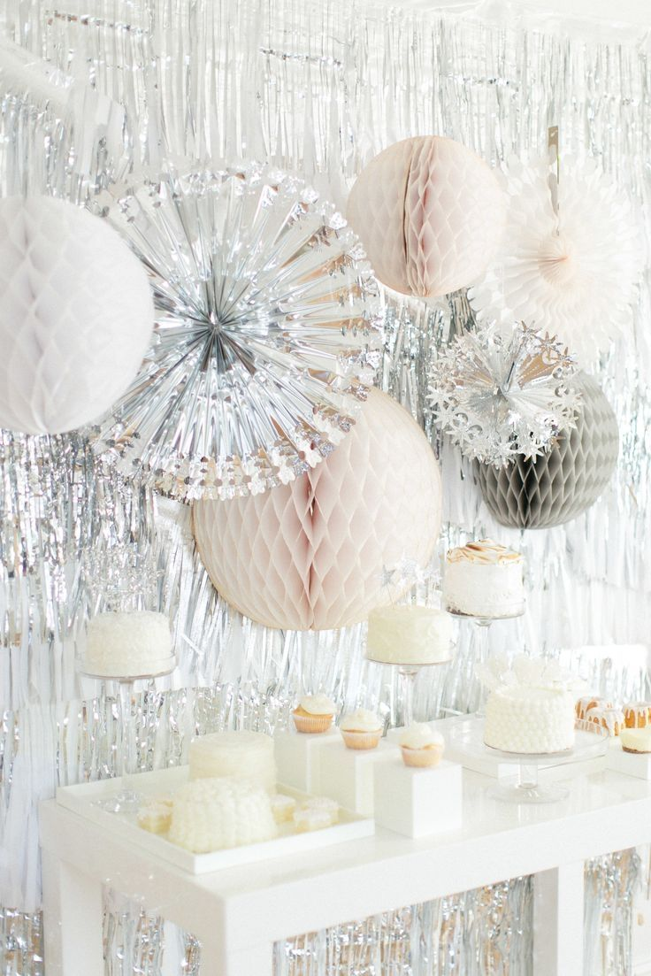 All White Winter Wonderland Party Silver And White Party | Party Time | Pinterest | Parties, Winter