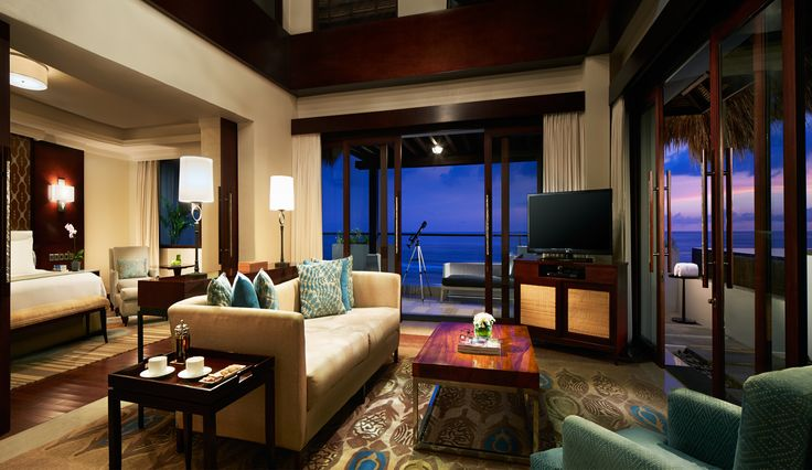 Penthouse Villa Living Room with Panoramic Ocean View