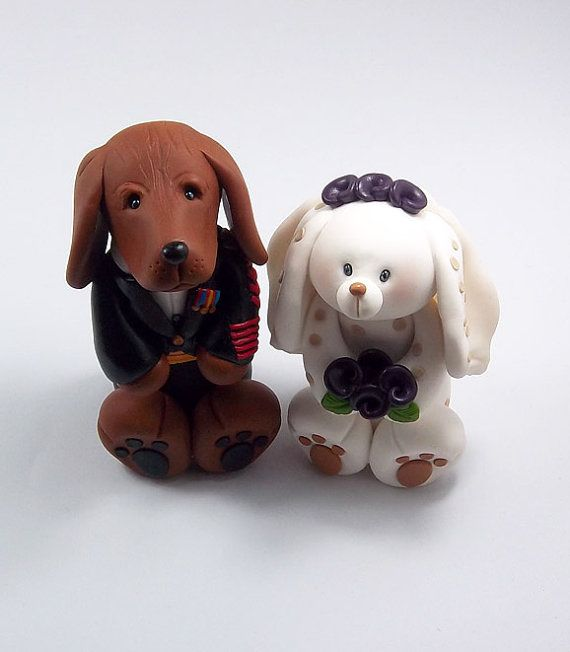 personalized wedding cake topper with dog wedding cake topper polymer clay figurine vizsla 18289