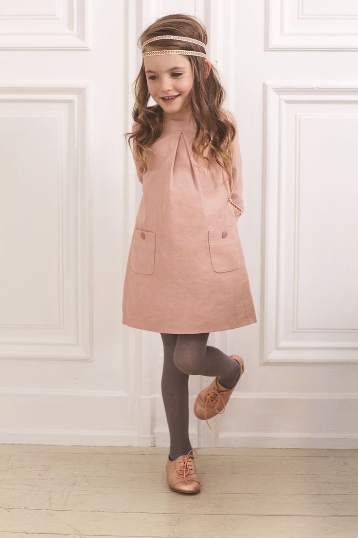 Pink cord dress from Marie-Chantal.