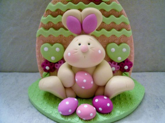 Bunny and Eggs - Easter Figurine