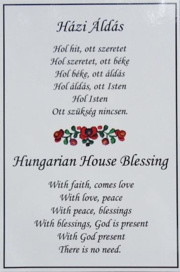 hungarian+house+blessing | N499 Házi Áldás ~ Hungarian House Blessing
