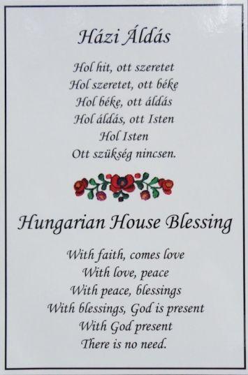 hungarian+house+blessing | N499 Házi Áldás ~ Hungarian House Blessing