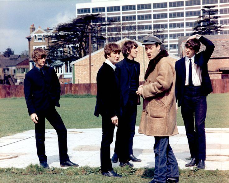 The Beatles on the set of the 1964 film A Hard Day's Night. Left to right: Ringo Starr, John Lennon, George Harrison, director Richard Lester, and Paul McCartney. Photograph: Everett/Rex/Shutterstock