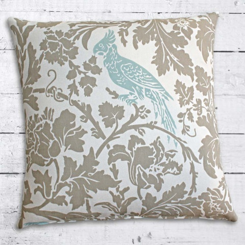 Cushions from Cushionopoly - Look at the Birdy cushion cover. From the Beach House collection