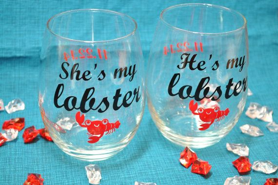 Hey, I found this really awesome Etsy listing at https://www.etsy.com/listing/220786076/set-of-hesshes-my-lobster-stemless-wine