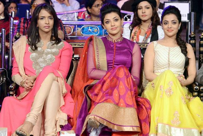 Kajal, Prasanna & Nisha @ CineMaa Awards 2013