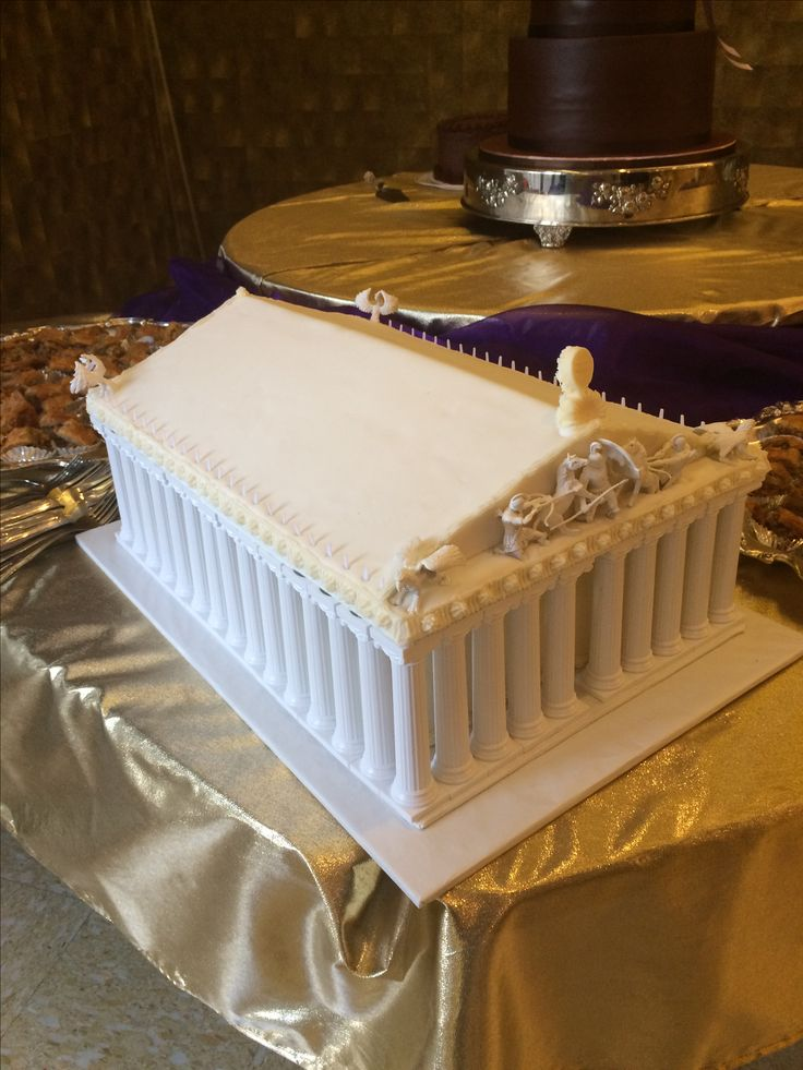 Parthenon Cake Cakes In 2019 Greek Cake Cake Fashion