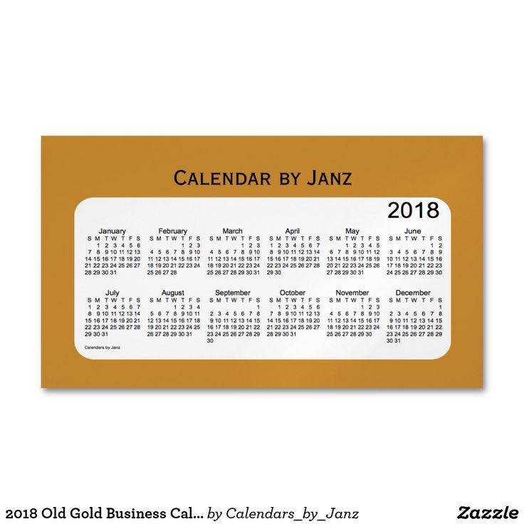 2018 Old Gold Business Calendar by Janz Magnet