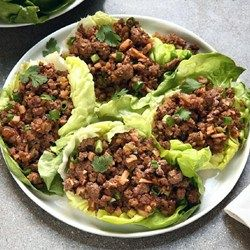 Asian Lettuce Wraps - Allrecipes.com I would have to change some ingredients to make it healthier.