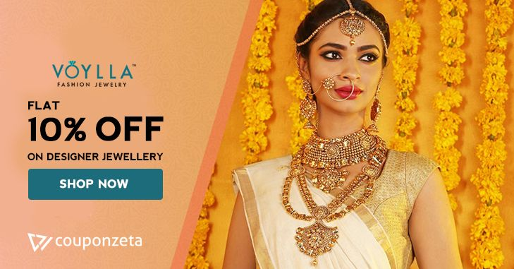 Make a style statement 💍Buy Affordable fashion jewellery online @voyllafashion Get 10% OFF on jewellery #diamonds #necklace #earrings #bangles #coupons #promocodes #CouponZeta #festive #Ugadi Use Code: SA10