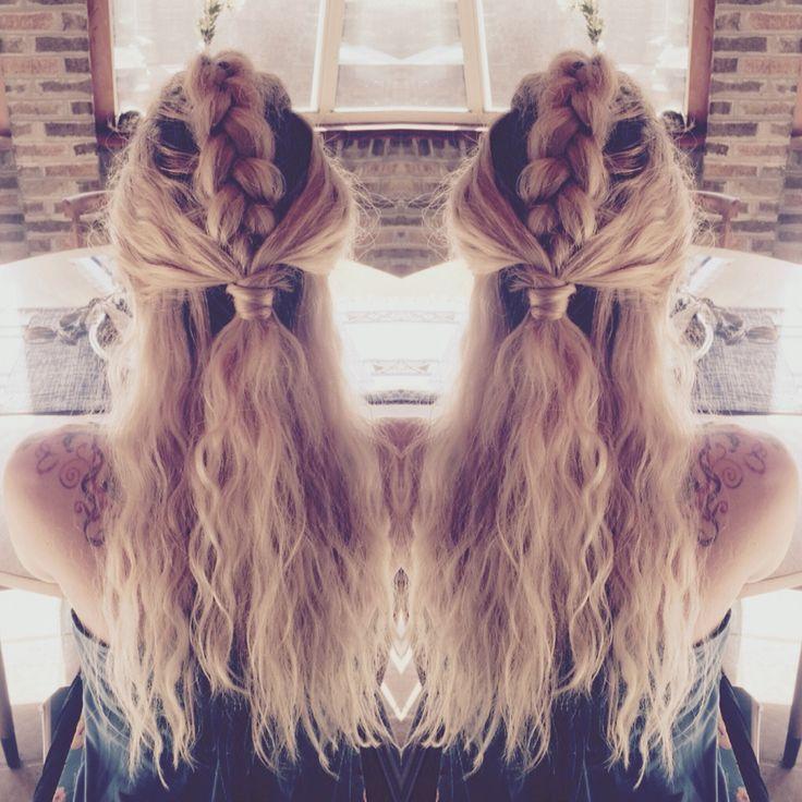 My favorite Pinterest mesh: Warrior Braid | #HairstylesProm #HairstylesApp #HairstylesCornrows # Hairstyling50syears
